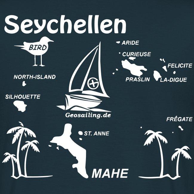 Seychellen Herrenshirt freie Farbwahl