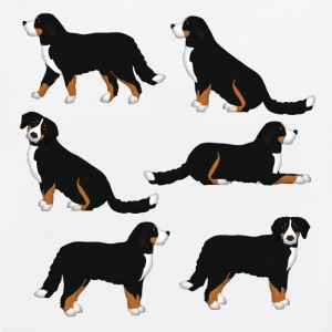 Bernese mountain dog selection Bags & Backpacks - EarthPositive Tote Bag