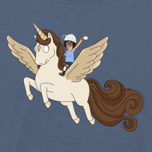 Bob's Burgers Tina On Pegacorn - Men's Premium T-Shirt