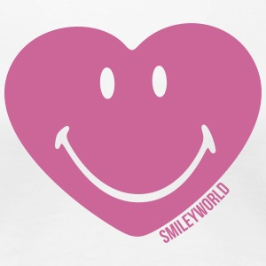 SmileyWorld Glitter Heart - Premium T-skjorte for kvinner