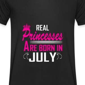 July - Birthday - Princess - 2 T-shirts - T-shirt med v-ringning herr