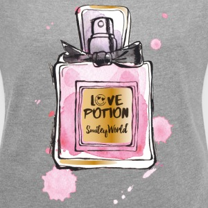 SmileyWorld Love Potion Parfüm - Frauen T-Shirt mit gerollten Ärmeln