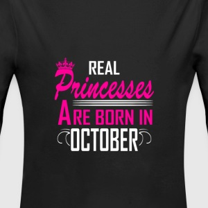 October - Birthday - Princess - 2 Baby Bodysuits - Longlseeve Baby Bodysuit