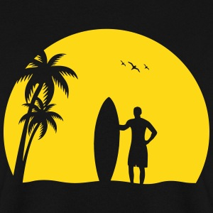 Surfer Sun Palm Beach sommer sea solnedgang Gensere - Genser for menn