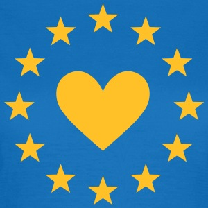 Europe heart, stars, I love EU, European Union T-S - Women's T-Shirt