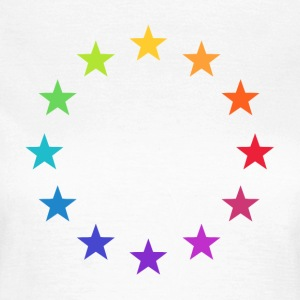 Rainbow Europe Stars, colorful EU, color,  T-Shirts - Women's T-Shirt