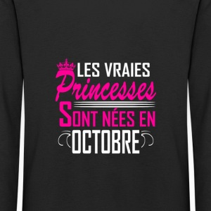 Octobre - Anniversaire - Princess - 2 Long Sleeve Shirts - Kids' Premium Longsleeve Shirt
