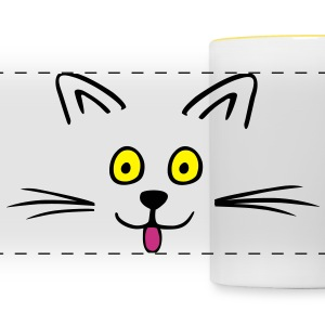 Funny cute cat Tazze & Accessori - Tazza con vista