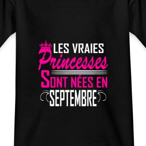 Septembre - Anniversaire - Princess - 2 T-Shirts - Teenager T-Shirt