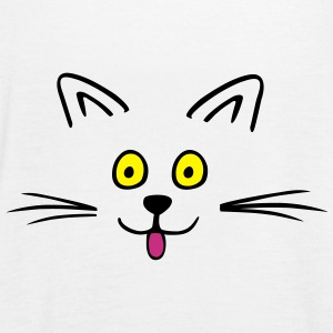 Funny cute cat Tops - Camiseta de tirantes mujer, de Bella
