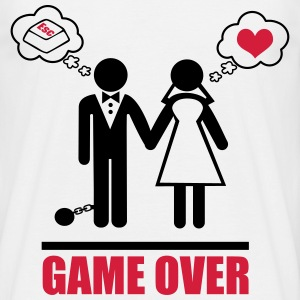 Game over,couples,funny - Men's T-Shirt