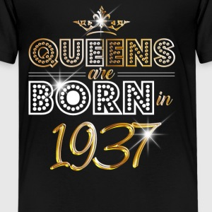 1937 - Birthday - Queen - Gold - EN T-Shirts - Teenager Premium T-Shirt