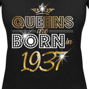 1937 - Birthday - Queen - Gold - EN T-Shirts - Women's V-Neck T-Shirt