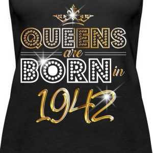 1942 - Birthday - Queen - Gold - EN Tops - Women's Premium Tank Top