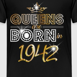 1942 - Birthday - Queen - Gold - EN T-shirts - Teenager premium T-shirt