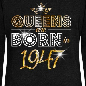 1947 - Birthday - Queen - Gold - EN Sweat-shirts - Pull Femme col bateau de Bella