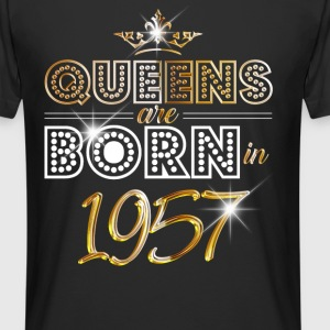 1957 - Birthday - Queen - Gold - EN Tee shirts - T-shirt long homme