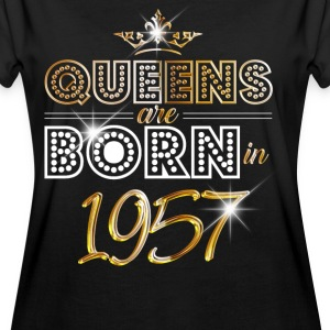 1957 - Birthday - Queen - Gold - EN T-shirts - Vrouwen oversize T-shirt