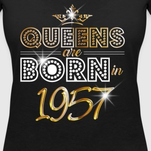 1957 - Birthday - Queen - Gold - EN T-Shirts - Women's V-Neck T-Shirt
