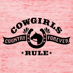 COWGIRLS RULE Tops - Women's Tank Top by Bella