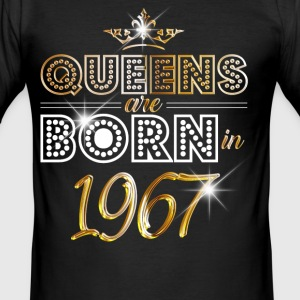 1967 - Birthday - Queen - Gold - EN T-Shirts - Men's Slim Fit T-Shirt