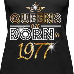 1977 - Birthday - Queen - Gold - EN Tops - Women's Premium Tank Top