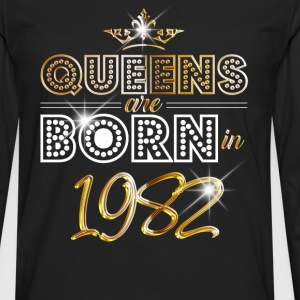 1982 - Birthday - Queen - Gold - EN Long sleeve shirts - Men's Premium Longsleeve Shirt