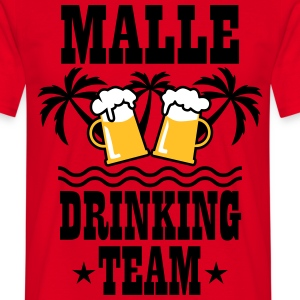 08 Malle Drinking Team Beer Mass Bier Party T-Shir - Männer T-Shirt