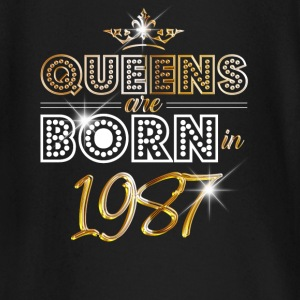1987 - Birthday - Queen - Gold - EN Baby Long Sleeve Shirts - Baby Long Sleeve T-Shirt