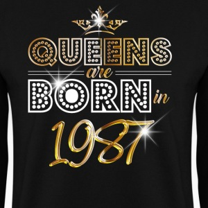 1987 - Birthday - Queen - Gold - EN Sweat-shirts - Sweat-shirt Homme