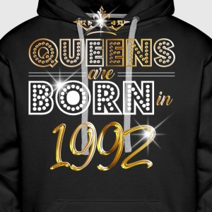 1992 - Birthday - Queen - Gold - EN Hoodies & Sweatshirts - Men's Premium Hoodie