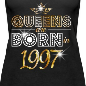 1997 - Birthday - Queen - Gold - EN Tops - Women's Premium Tank Top