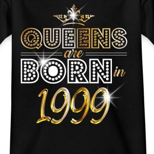 1999 - Birthday - Queen - Gold - EN Shirts - Teenage T-shirt