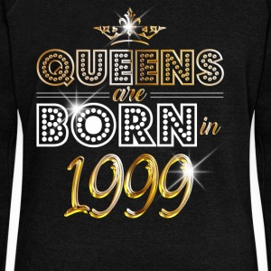 1999 - Birthday - Queen - Gold - EN Hoodies & Sweatshirts - Women's Boat Neck Long Sleeve Top