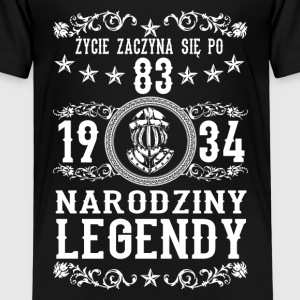 1934 - 83 lat - Legendy - 2017 - PL Shirts - Kids' Premium T-Shirt