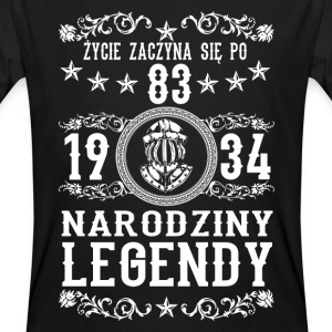 1934 - 83 lat - Legendy - 2017 - PL T-shirts - Ekologisk T-shirt herr