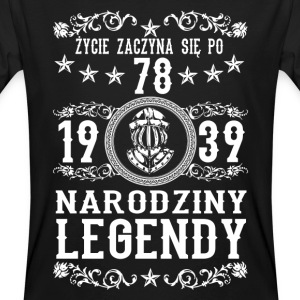 1939 - 78 lat - Legendy - 2017 - PL T-shirts - Mannen Bio-T-shirt