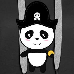 Panda Pirate avec Sl9ai or Sweat-shirts - Sweat-shirt à capuche Premium pour femmes