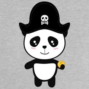 Panda Pirate with Gold Sl9ai Baby Shirts  - Baby T-Shirt