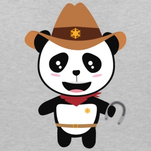Panda Cowboy with horseshoe Stao7 T-Shirts - Women's V-Neck T-Shirt