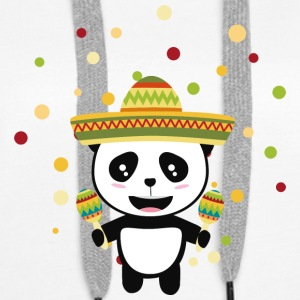 Panda Mexique Fiesta S8y7v Sweat-shirts - Sweat-shirt à capuche Premium pour femmes