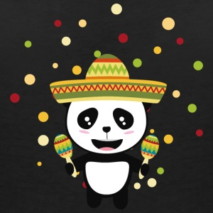 Panda Mexico Fiesta S8y7v T-Shirts - Women's V-Neck T-Shirt