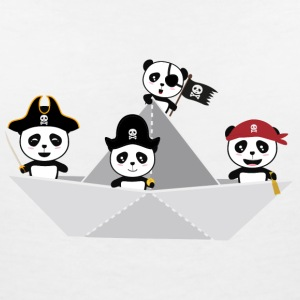 Panda Pirates Paperboat Crew S6lca Tee shirts - T-shirt col V Femme