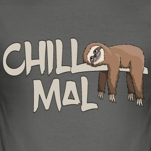 Chill mal Faultier T-Shirts - Männer Slim Fit T-Shirt