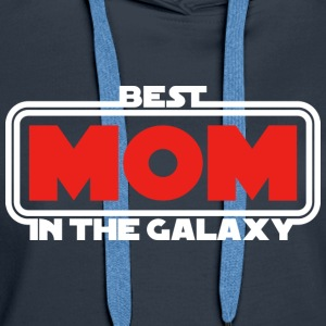 Best Mom in the Galaxy (dark) Hoodies & Sweatshirts - Women's Premium Hoodie