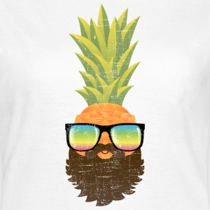 Pineapple Hipster With Beard And Sunglasses T-Shirts - Frauen T-Shirt
