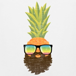 Pineapple Hipster With Beard And Sunglasses Sports wear - Men's Premium Tank Top