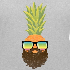 Pineapple Hipster With Beard And Sunglasses Koszulki - Koszulka damska  z dekoltem w serek