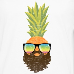 Pineapple Hipster With Beard And Sunglasses Manches longues - T-shirt manches longues Premium Homme
