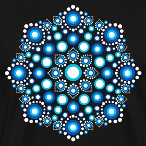 Color Dots, Dot Art, Mandala, Yoga, Meditation T-shirts - Premium-T-shirt herr